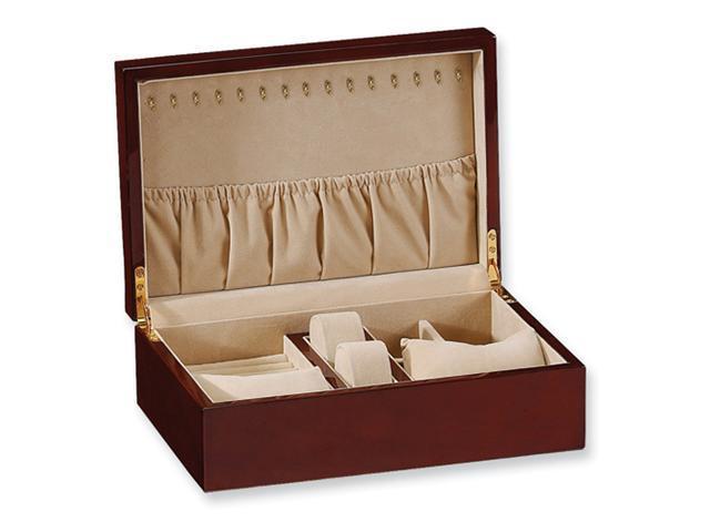 Walnut High Gloss Finish Jewelry Box