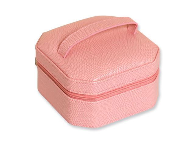 Pink Snake Texture Jewelry Case