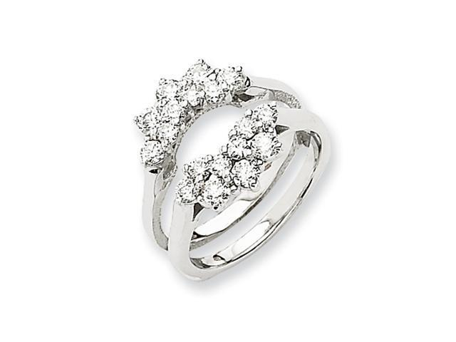 14k White Gold Diamond Ring Guard Mounting