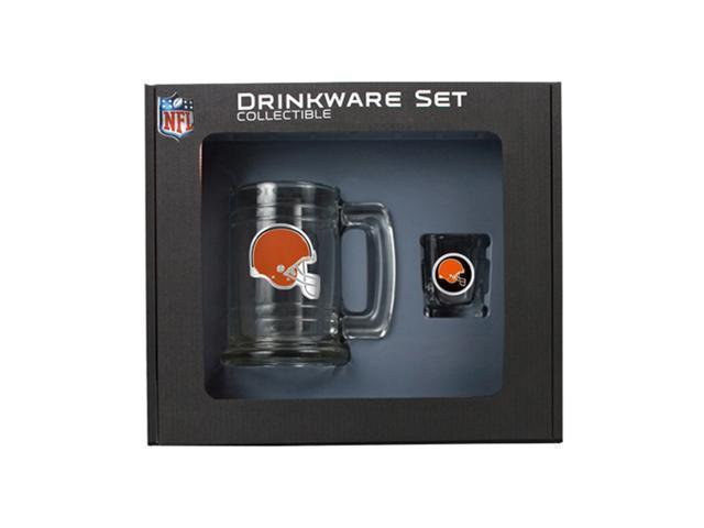 Cleveland Browns Shot Glass and Mug Set
