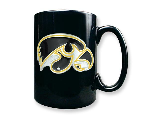 University of Iowa 15oz Black Ceramic Mug