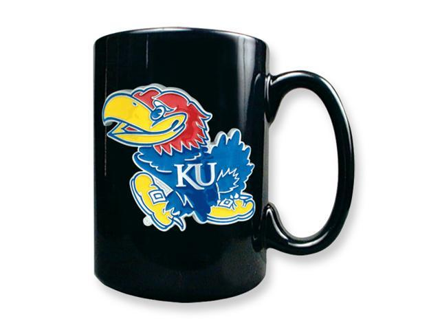University of Kansas 15oz Black Ceramic Mug