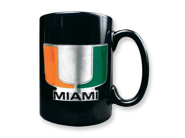 University of Miami 15oz Black Ceramic Mug