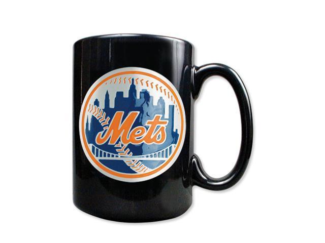 New York Mets 15oz Black Ceramic Mug