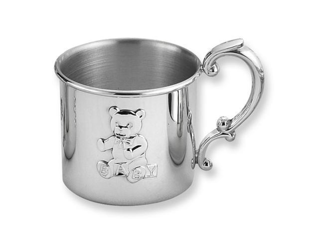 Pewter Teddy Bear Baby Cup