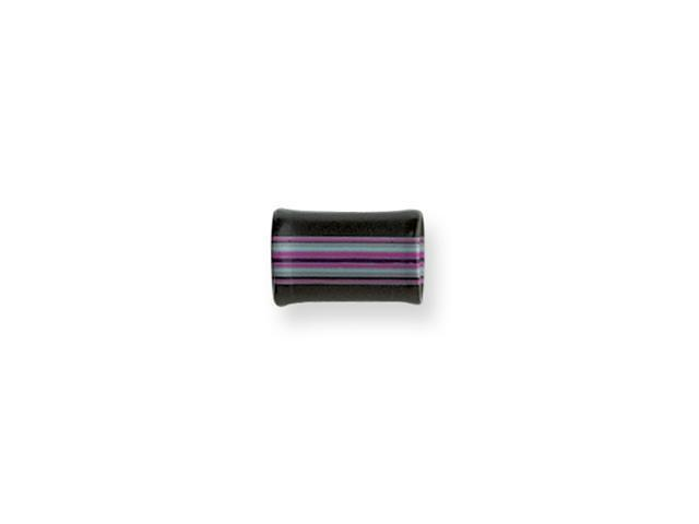 Acrylic 0G 1/2in.Lg Layered Flanged Blk Pnk Aqu Stripes Plug