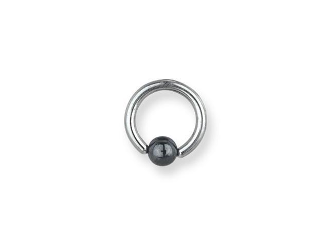 SGSS Captive w Hematite Ball 12G (2mm) 1/2
