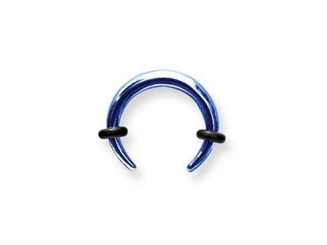 Plated SGSS Pincher w 2 Rubber O-rings 8G (3.2mm) 1/2