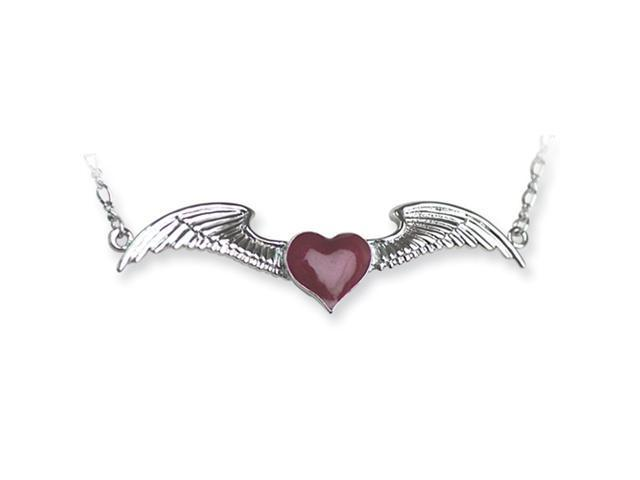 Back Belly Chains Winged Heart w Heart weight Small (Fits 24