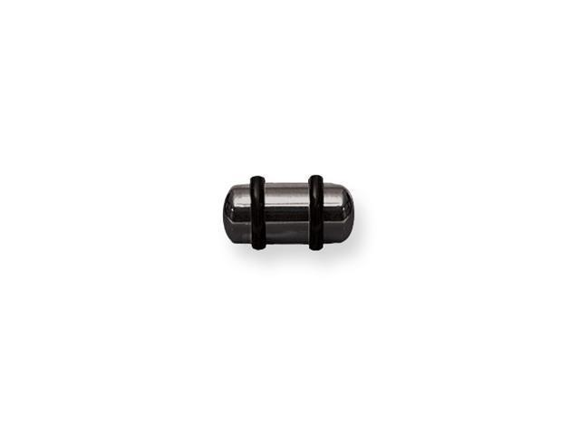 Plated SGSS Plug w Rounded Ends 2G (6.5mm) 1/2