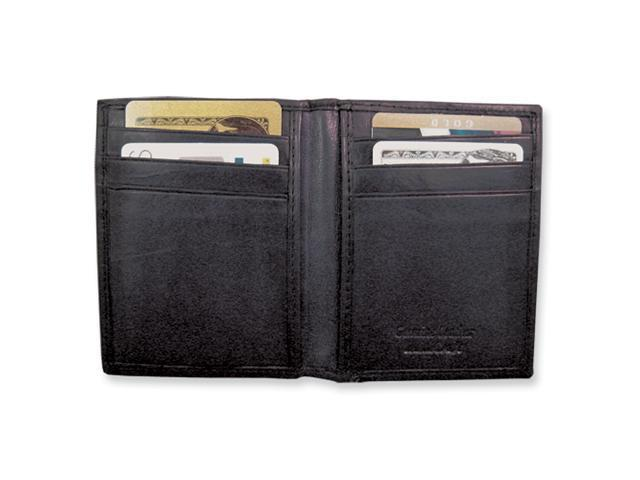 Black Leather Flip Feature Front Pocket Wallet