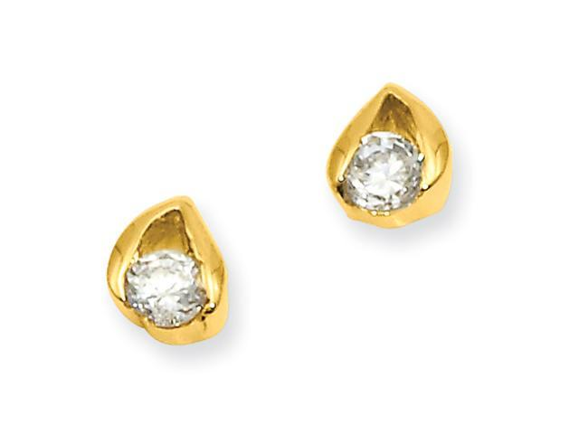 Gold-plated Round CZ Earrings