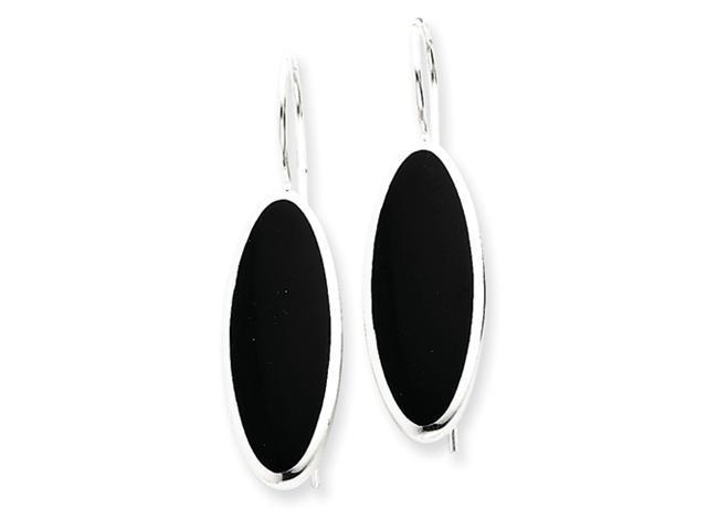 Sterling Silver Fancy Onyx Earrings