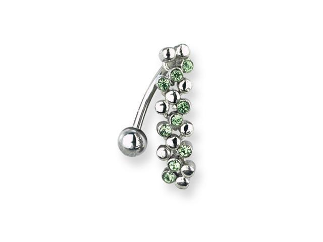 SGSS Curv BB w Fancy Gem Top Dangle 14G (1.6mm) 13/32