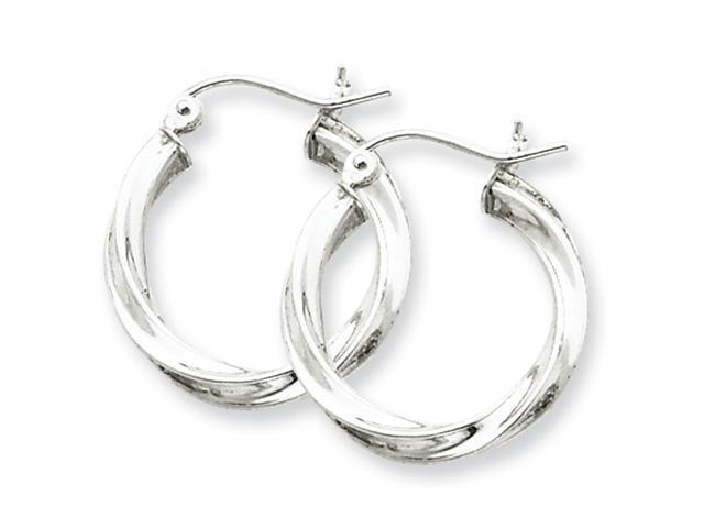 Sterling Silver 3.00mm Twisted Hoop Earrings