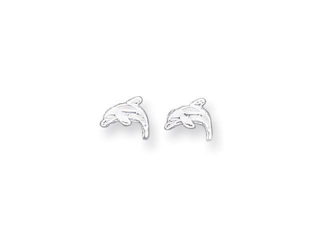 Sterling Silver Dolphin Mini Earrings