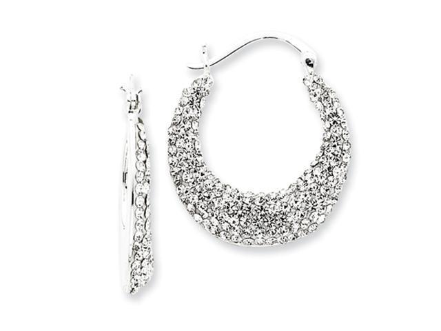 Sterling Silver w/ Swarovski Crystal Hoop Earrings
