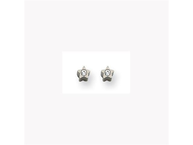 Palladium-plated Crystal in Star Earrings
