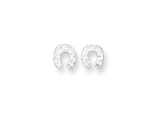 Sterling Silver Horseshoe Mini Earrings