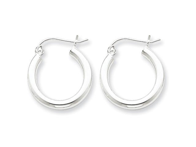 Sterling Silver 2.5mm Tubed Hoop Earrings