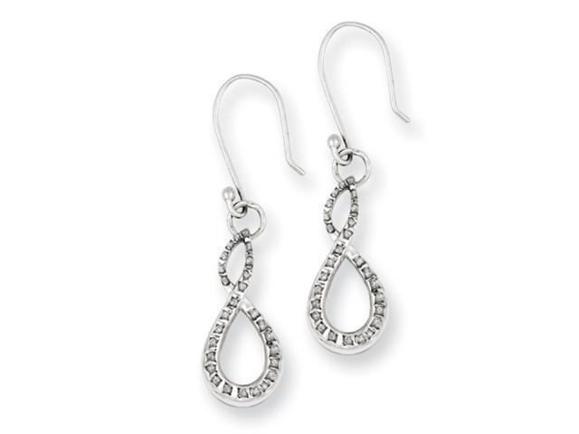 Sterling Silver Diamond Mystique Figure 8 Earrings