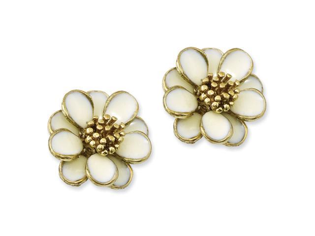 Gold-tone Flower Post Earrings