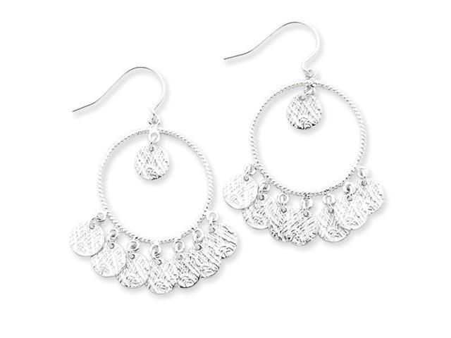 Sterling Silver Circle Dangle Earrings