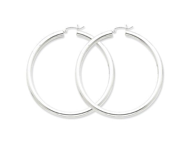 Sterling Silver 4mm Round Hoop Earrings