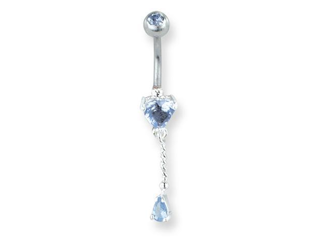 SGSS Curv BB w Charm & Petite Gem Dangle 14G (1.6mm) 13/32