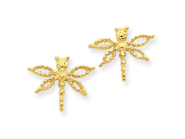 14k Dragonfly Earrings