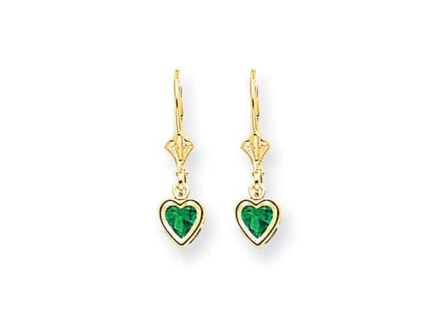 14k 5mm Heart Mount St. Helens earring