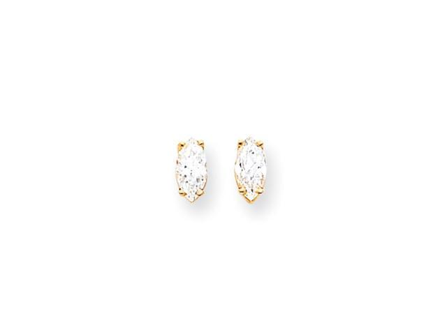 14k 8x4mm Marquise Cubic Zirconia earring