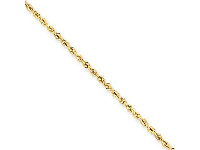 14k 2.25mm Handmade Regular Rope Chain