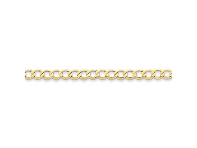 10k 6.5mm Semi-Solid Curb Link Chain