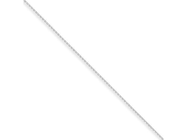 10k White Gold .8mm D/C Cable Chain