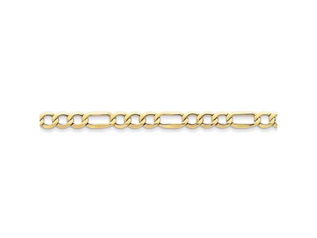 10k 6.6mm Semi-Solid Figaro Chain