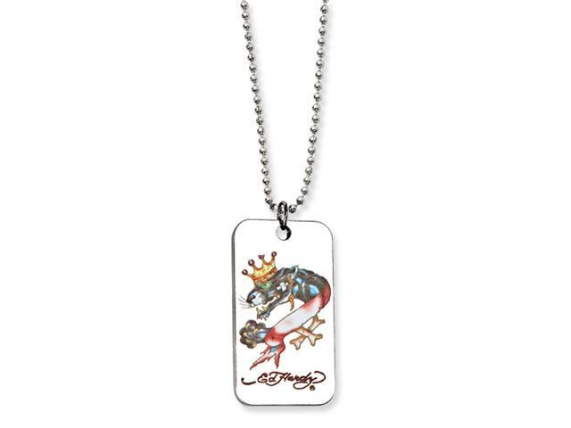 Designer's Panther Painted Dog Tag 24in Necklace