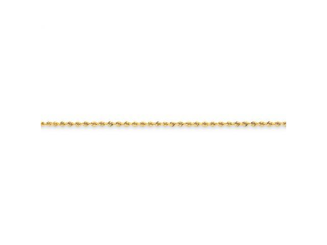 14k 1.75mm Handmade Regular Rope Chain