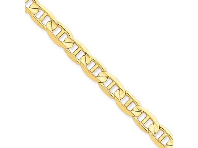 14k 7mm Concave Anchor Chain