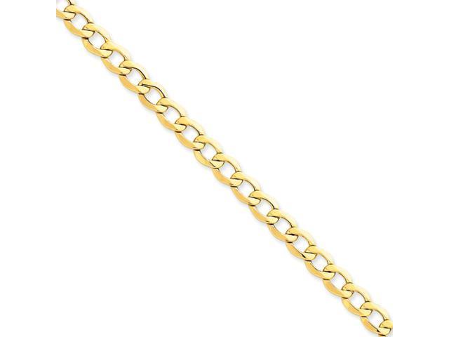 14k 7.0mm Semi-Solid Curb Link Chain