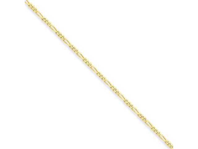 10k 1.75mm Polished 24 inch Figaro Chain