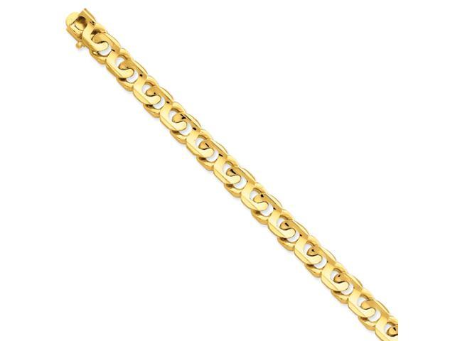 14k 9mm Hand-polished Fancy Link Chain