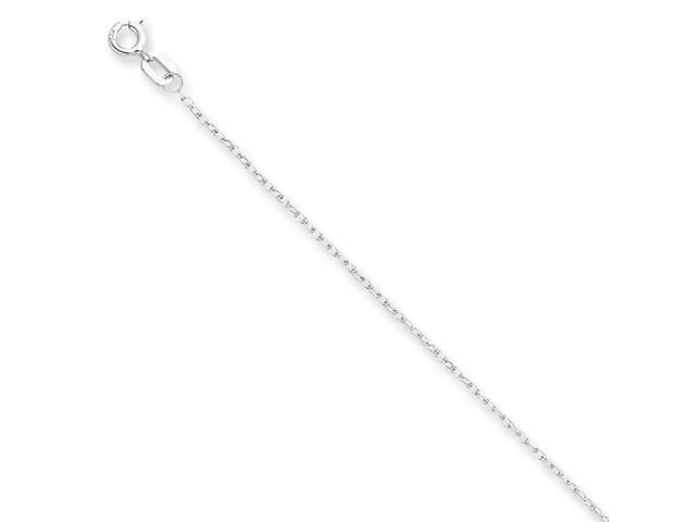 14K White Gold Carded Cable Rope Chain