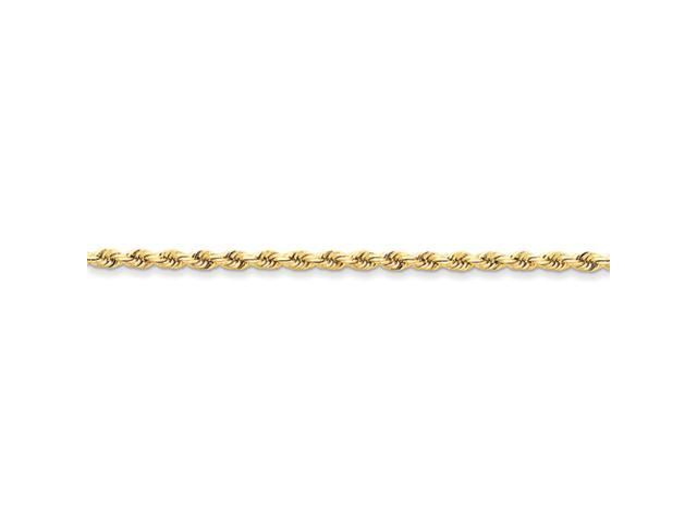 14k 3mm D/C Rope with Lobster Clasp Chain