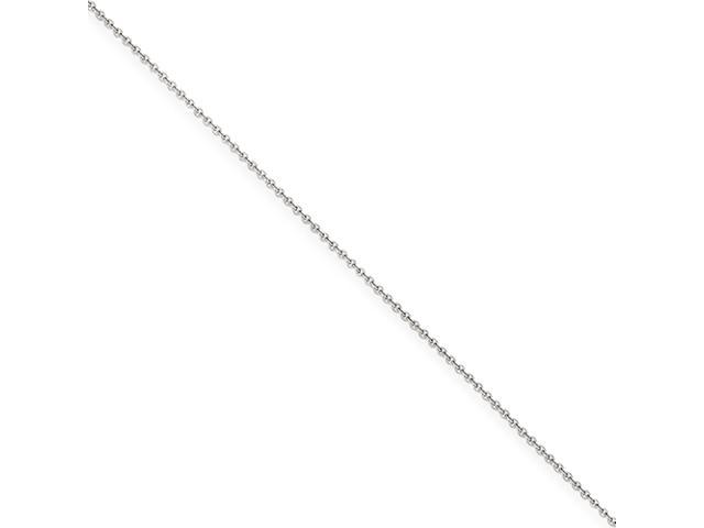 14k White Gold 1mm Cable Chain