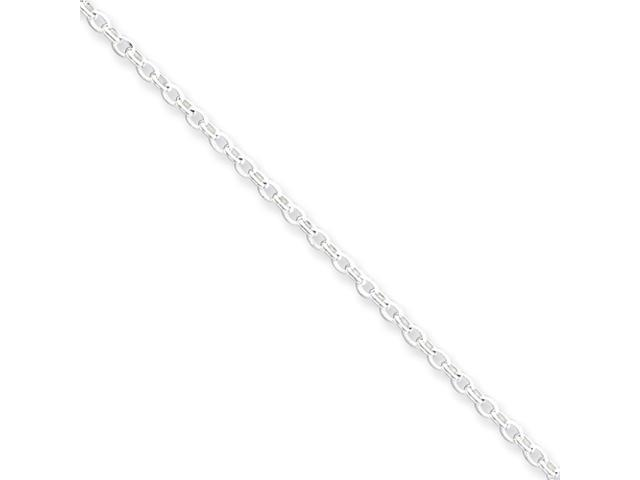 Sterling Silver 1.6mm Long Link Rolo Chain