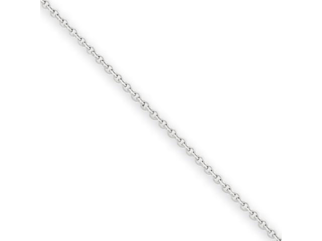 14k White Gold .8mm Cable Chain