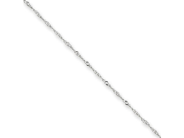 14k White Gold 1mm Singapore Chain