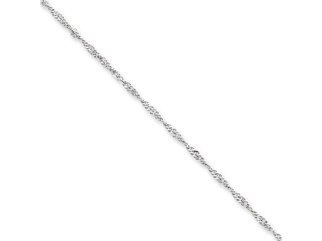 14k White Gold 1.9mm Singapore Chain