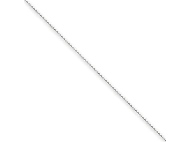 14k White Gold .6mm Solid Polished Cable Chain